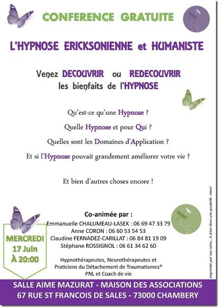 Affiche Hypnose Chambéry