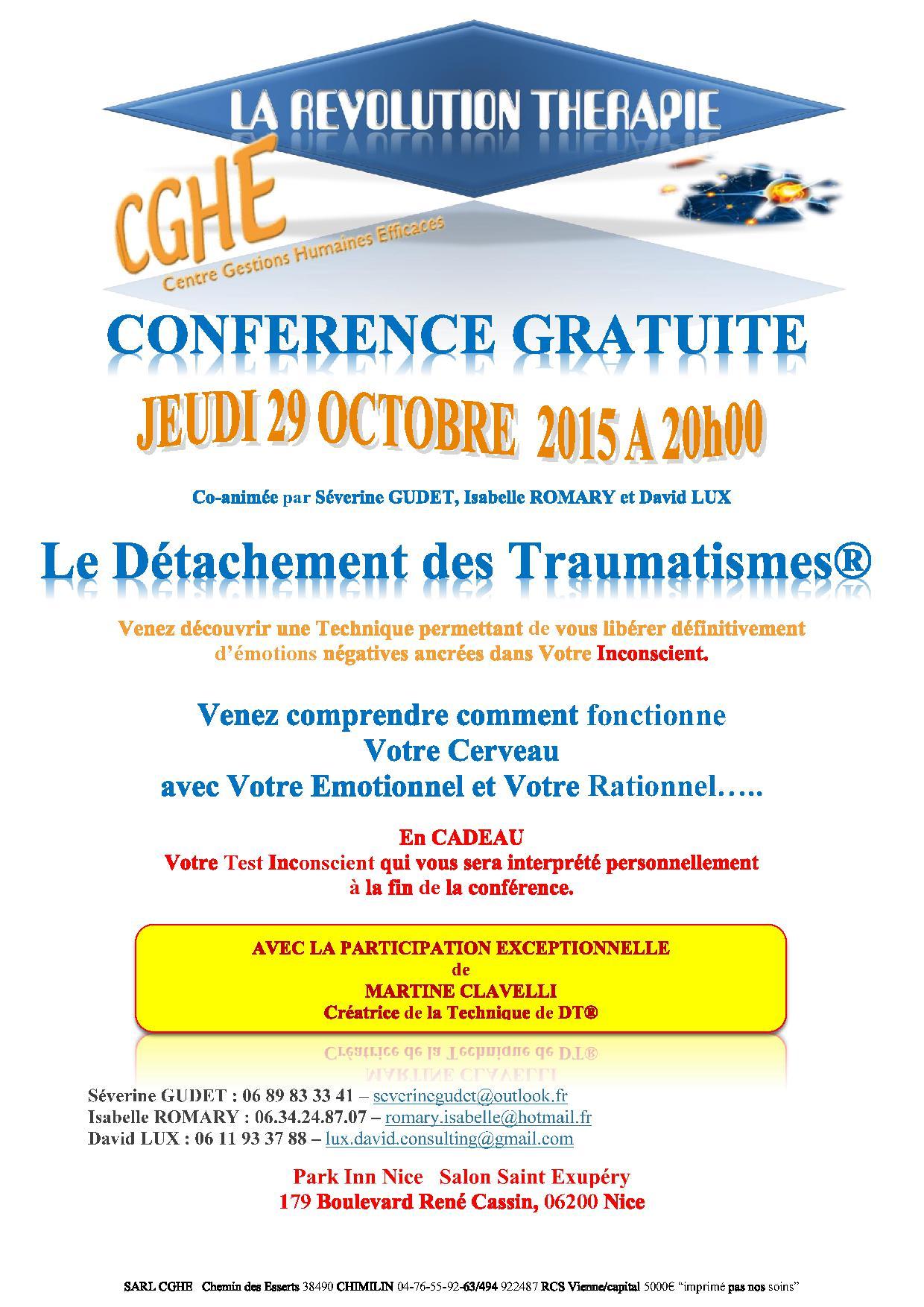 conférence du 29 octobre Nice