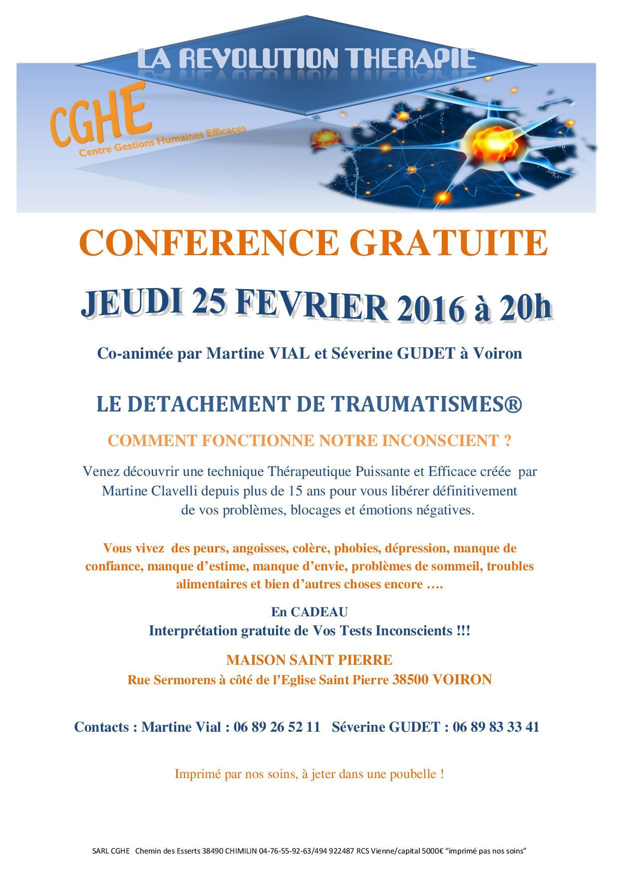 Conférence Voiron 25 02 2016