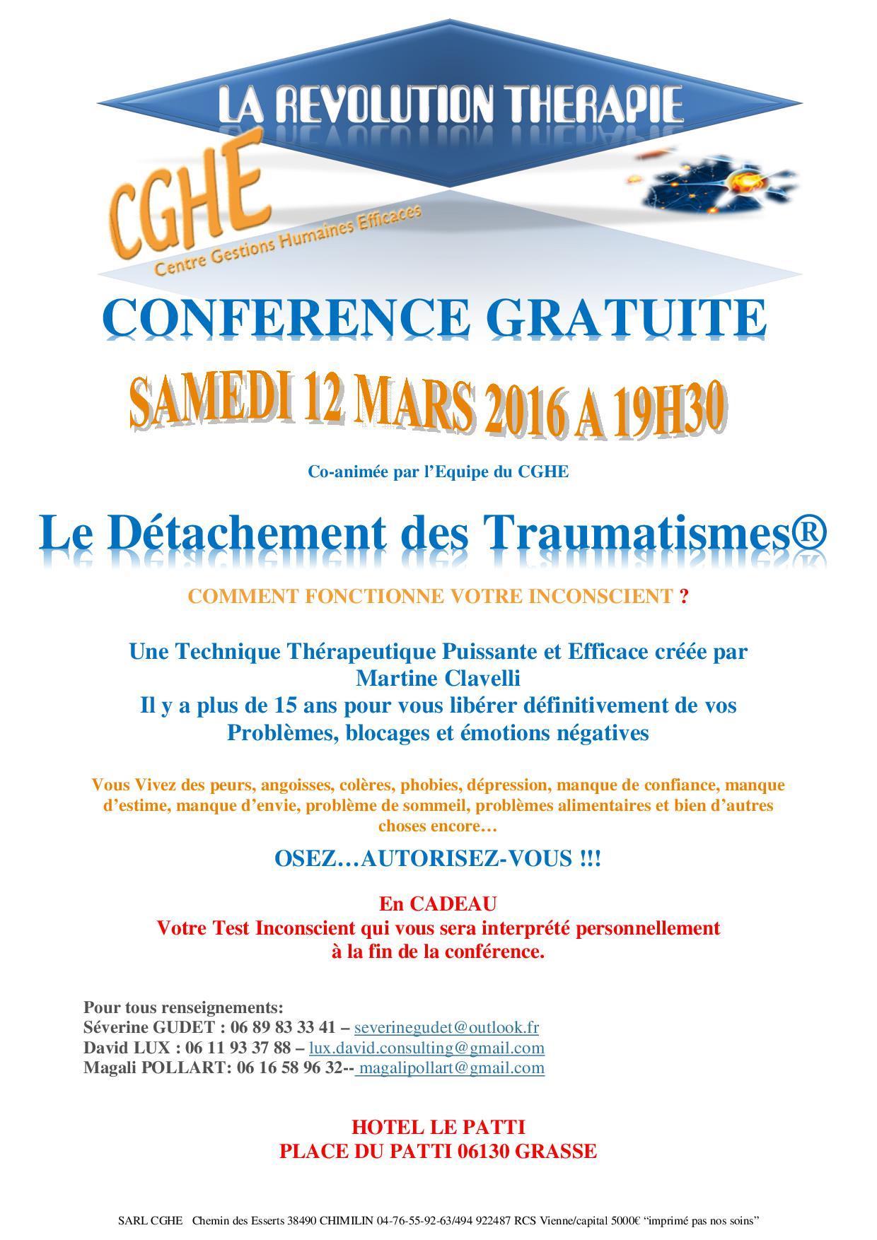 conférence du 11 Mars Grasse