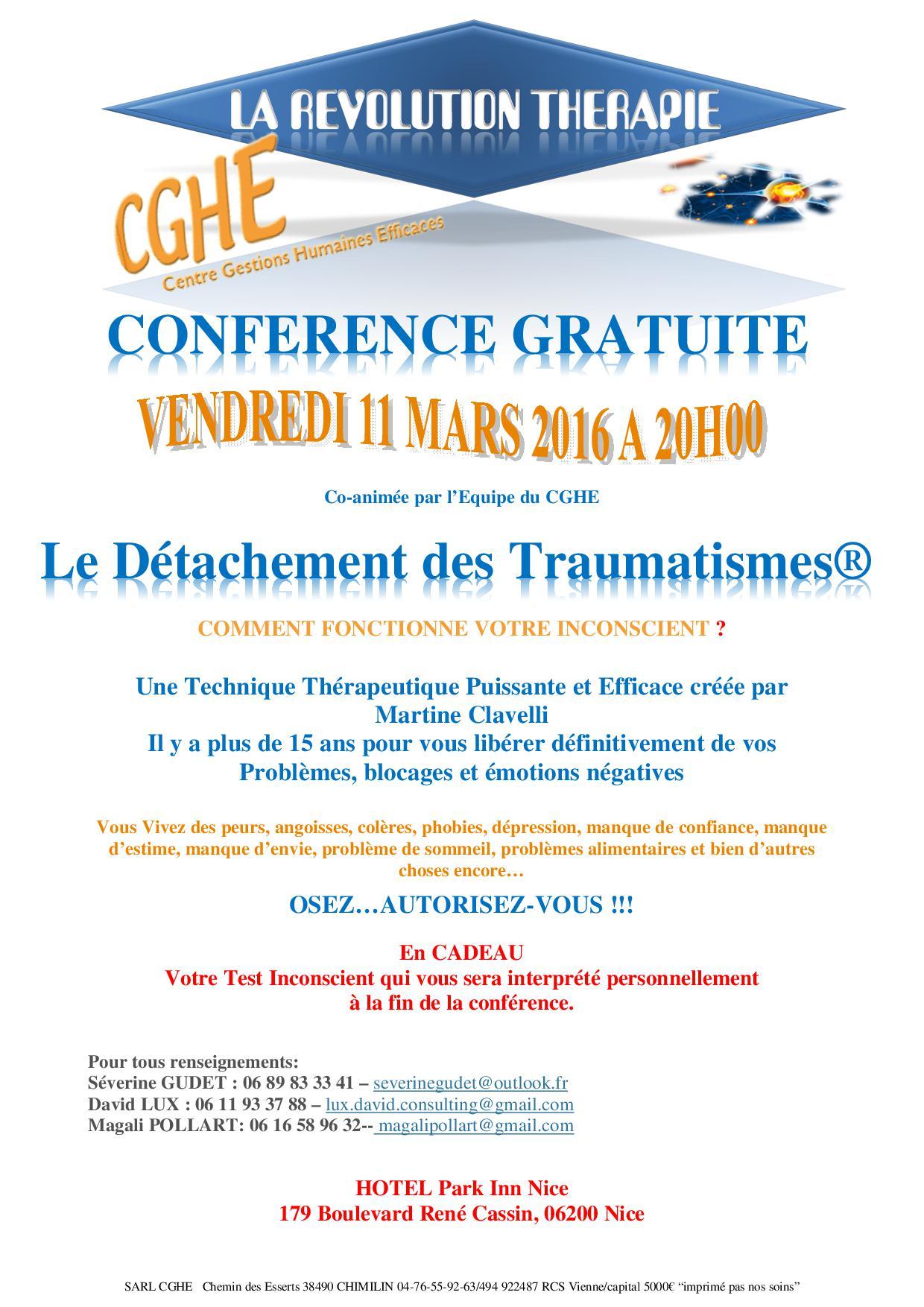 conférence du 11 Mars Nice