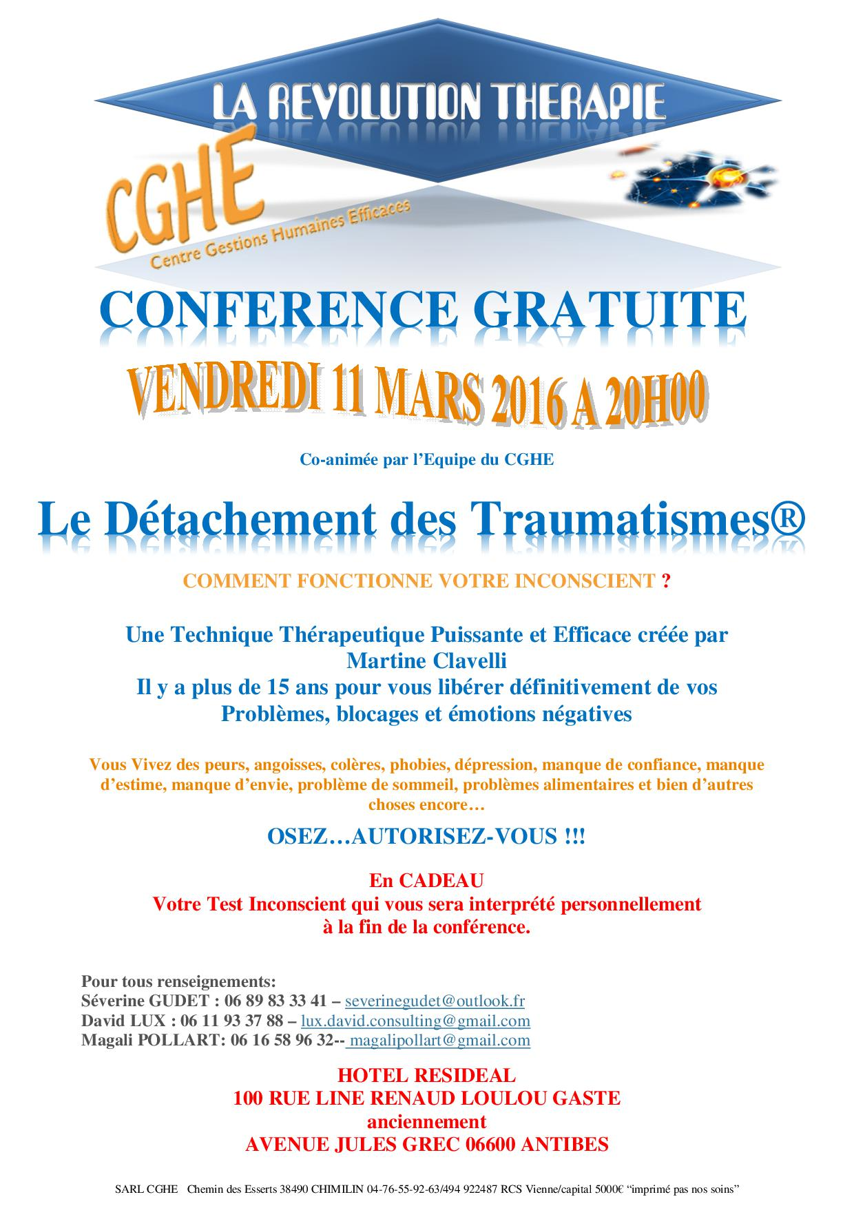 conférence du 11 Mars Antibes