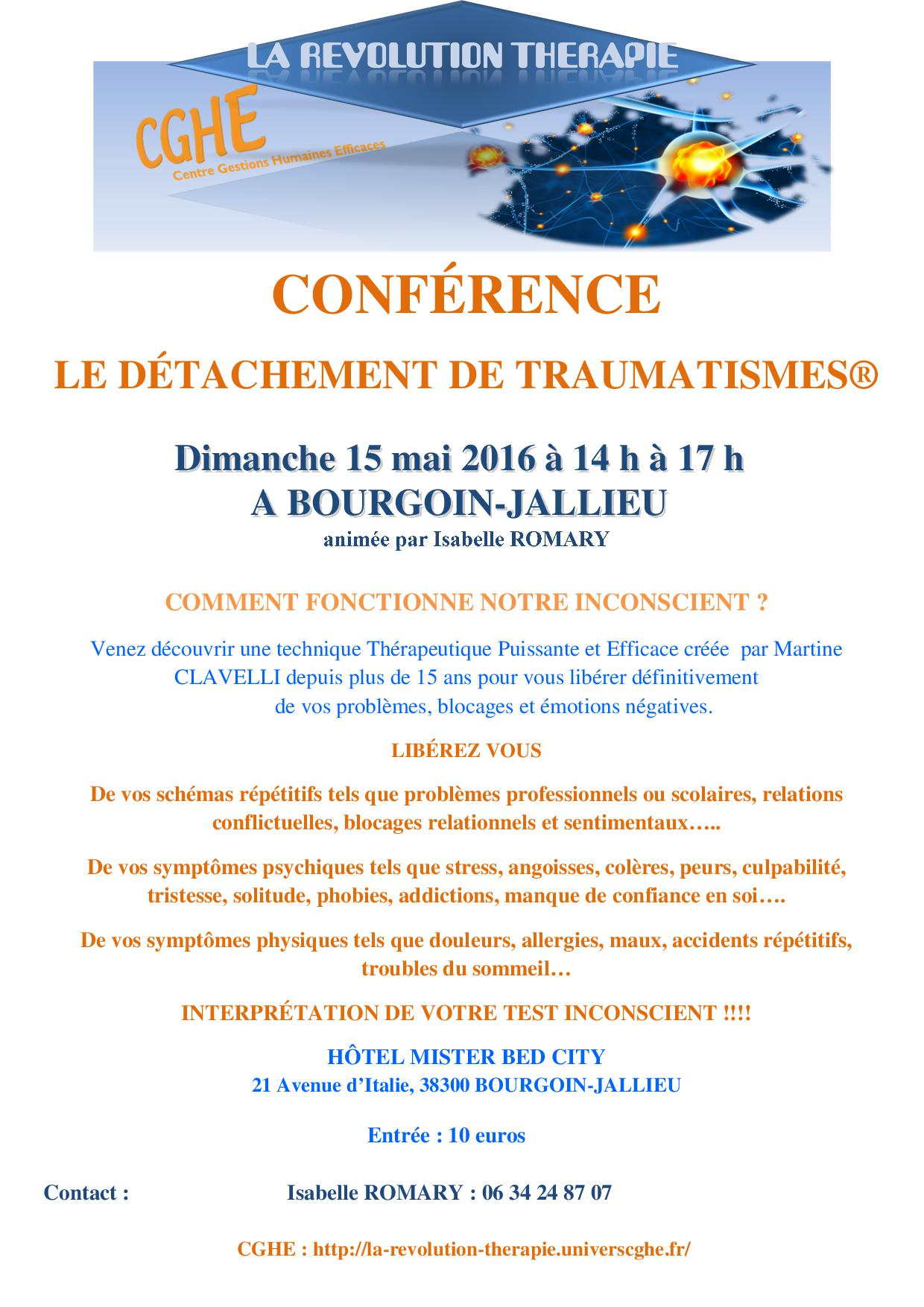 conférence isablle 15 Mai 2016